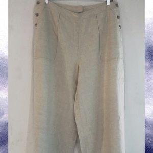 Spiegel 💕 NWOT Linen Pants with Wide Legs